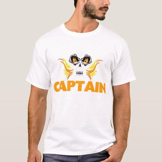 Flaming Skull Captain T-Shirt