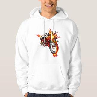Flaming Skull Chopper Hoodie