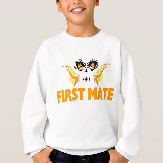 Flaming Skull First Mate Sweatshirt
