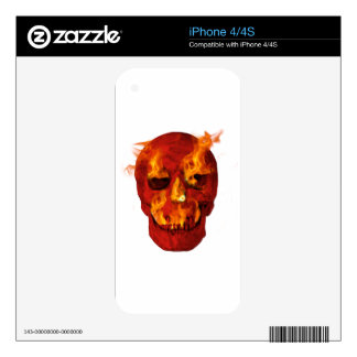 Flaming Skull iPhone 4 Skins