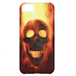 Flaming Skull iPhone 5C Covers