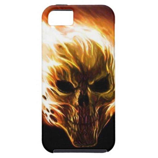 Flaming Skull iPhone SE/5/5s Case