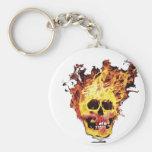 Flaming Skull Key Chains