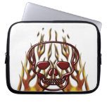 Flaming Skull Laptop Computer Sleeve