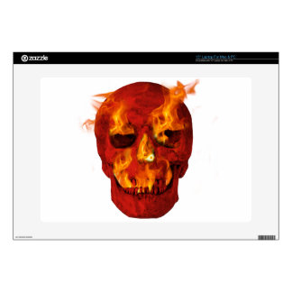 Flaming Skull Laptop Decals