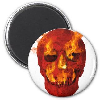 Flaming Skull Magnet
