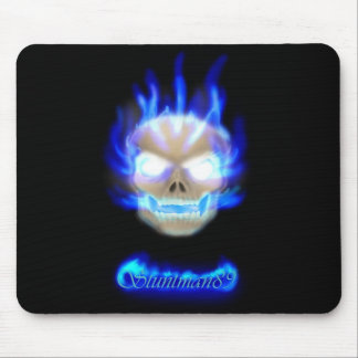 Flaming Skull Mouse Pad