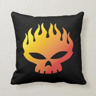 Flaming Skull Pillow