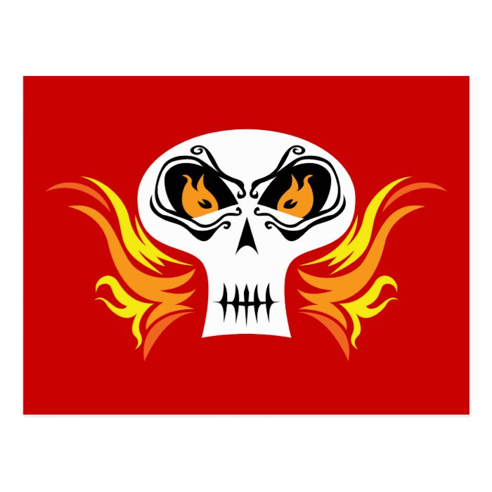 Flaming Skull Postcard