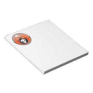 Flaming Skull Steel Bubble in Orange Scratch Pad