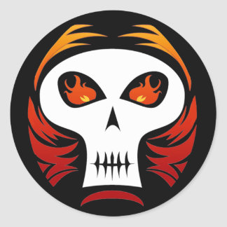 Flaming Skull stickers