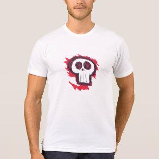 Flaming Skull. T-Shirt