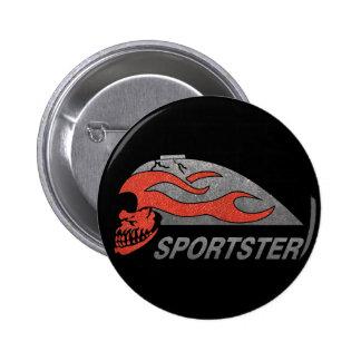 Flaming Skull Tank Button