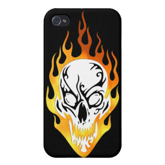 Flaming Skull Tattoo iPhone 4/4S Cover