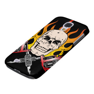Flaming Skull Tattoo Samsung Galaxy S4 Case