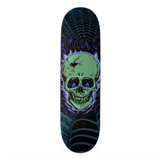 Flaming Skull Tattoo Skateboard