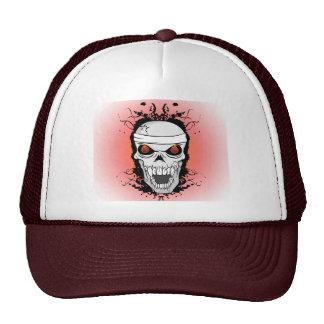 Flaming skull trucker hat
