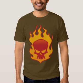 Flaming Skull Tshirt