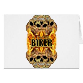 Flaming Skulls 100% Biker Cards