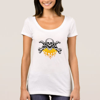 Flaming Skulls: Laughing T-Shirt