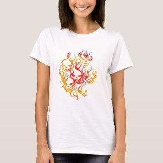 Flaming Skulls-multi T-Shirt