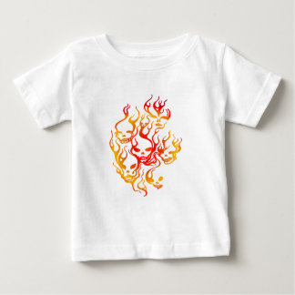 Flaming Skulls-multi Tee Shirt