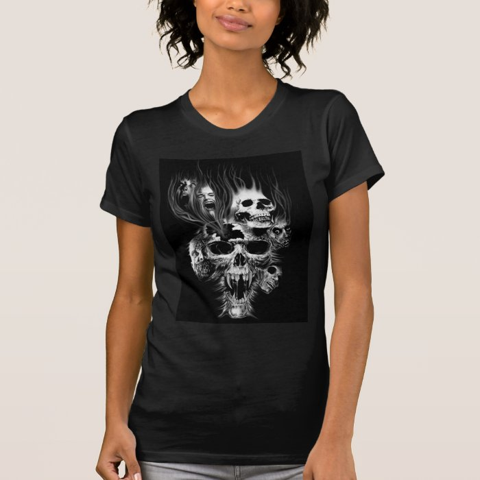 Flaming Skulls T-Shirt