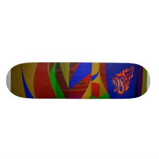 Flaming Snake Skateboard