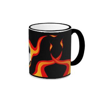 flaming_soccer_ball - 2 coffee mug