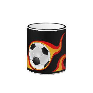 flaming_soccer_ball - 2 taza a dos colores