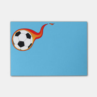 Flaming Soccer Ball Post-it-Notes Post-it Notes