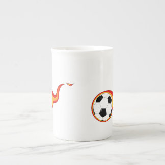 Flaming Soccer Ball Tea Cup
