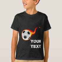 flaming soccer ball T-Shirt