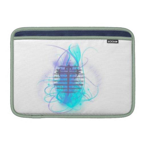 Flaming Soul Cross MacBook Air Sleeve