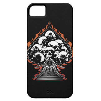 Flaming Spade with Skulls iPhone 5 Cover