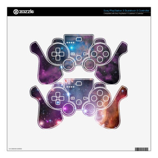 Flaming Star Nebula and Small Magellanic Cloud PS3 Controller Decal