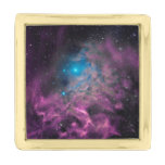 Flaming Star Nebula Gold Finish Lapel Pin
