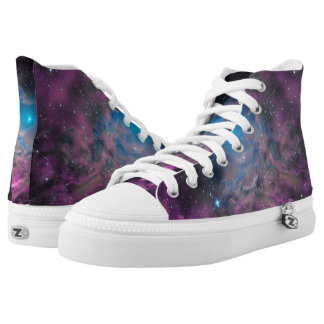 Flaming Star Nebula High-Top Sneakers