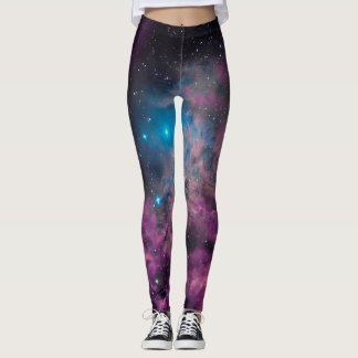 Flaming Star Nebula Leggings