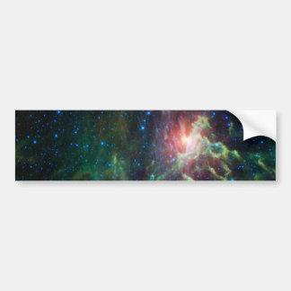 Flaming Star Runner NASA Bumper Sticker