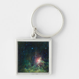 Flaming Star Runner NASA Keychain