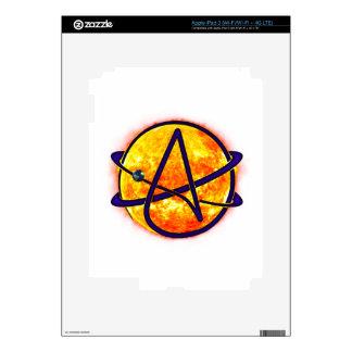 Flaming Sun Atheist Symbol iPad 3 Decal