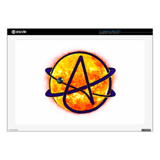 Flaming Sun Atheist Symbol Decals For Laptops