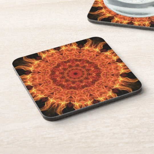 Flaming Sun Beverage Coaster