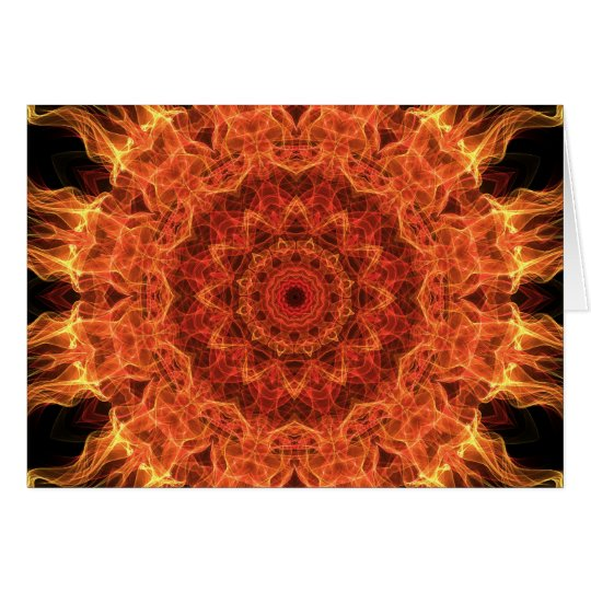 Flaming Sun Card