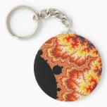 Flaming Sun - Fractal Keychain