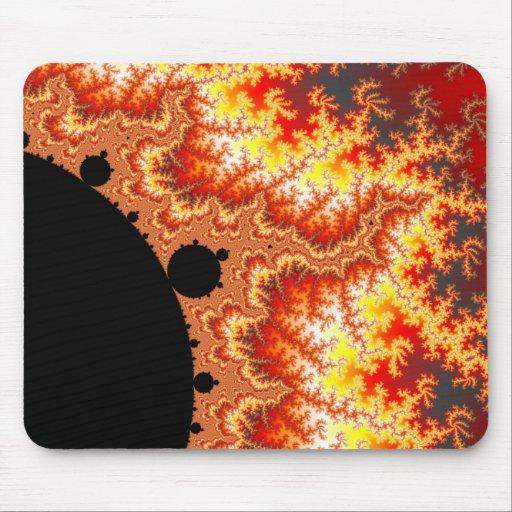 Flaming Sun - Fractal Mouse Pad