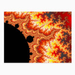 Flaming Sun - Fractal Postcard