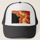 Flaming Sun - Fractal Trucker Hat