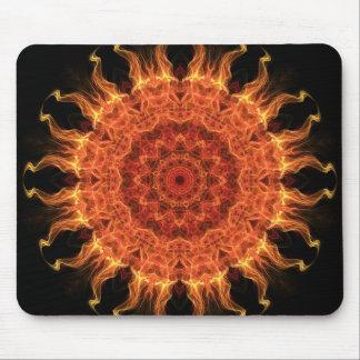 Flaming Sun Mouse Pad